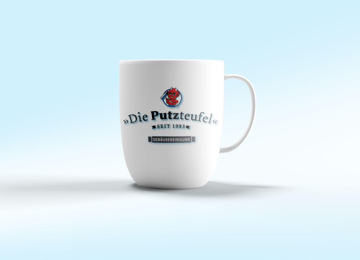 Logo-Kieler Putzteufel-Tasse