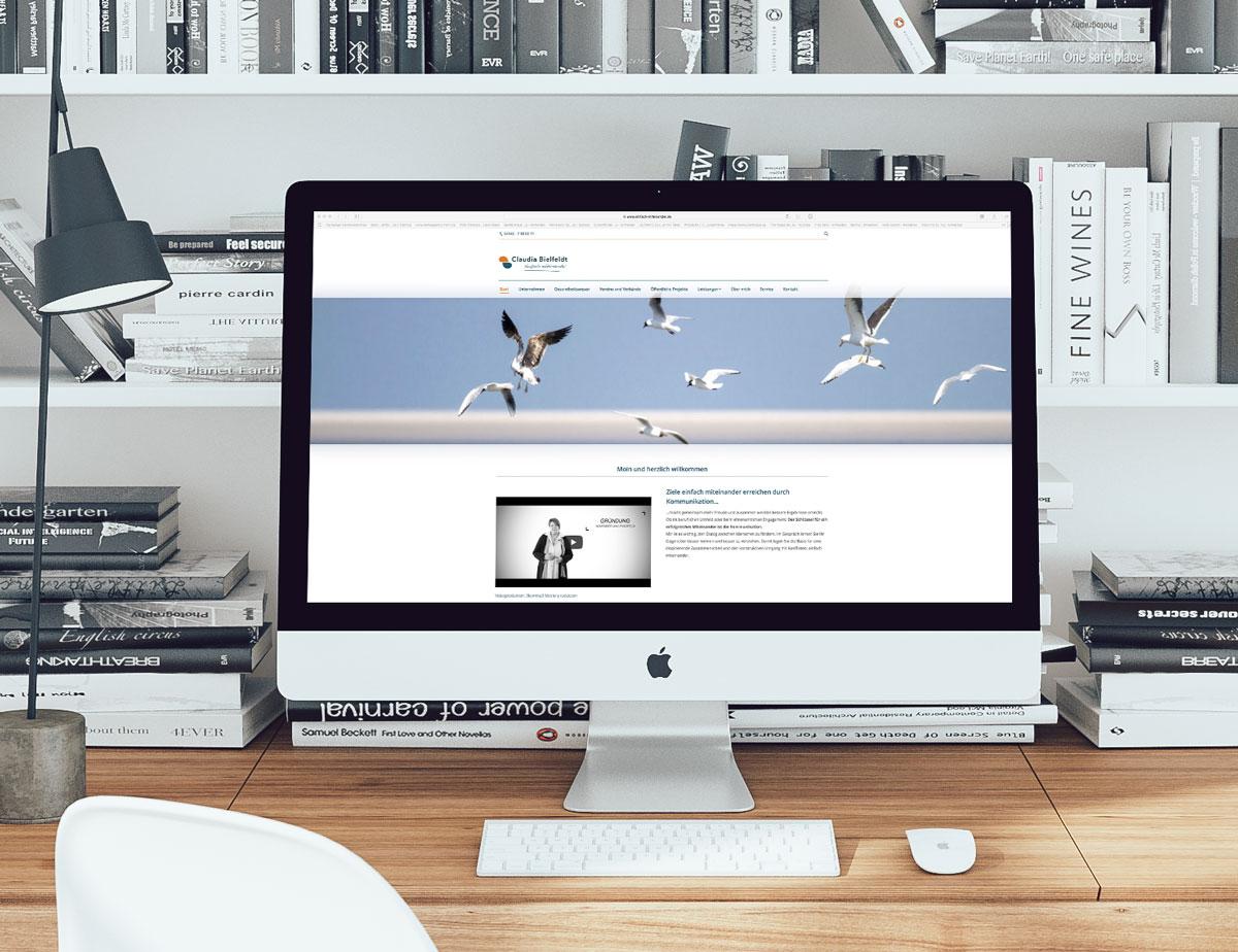 Website Claudia Bielfeldt, einfach miteinander