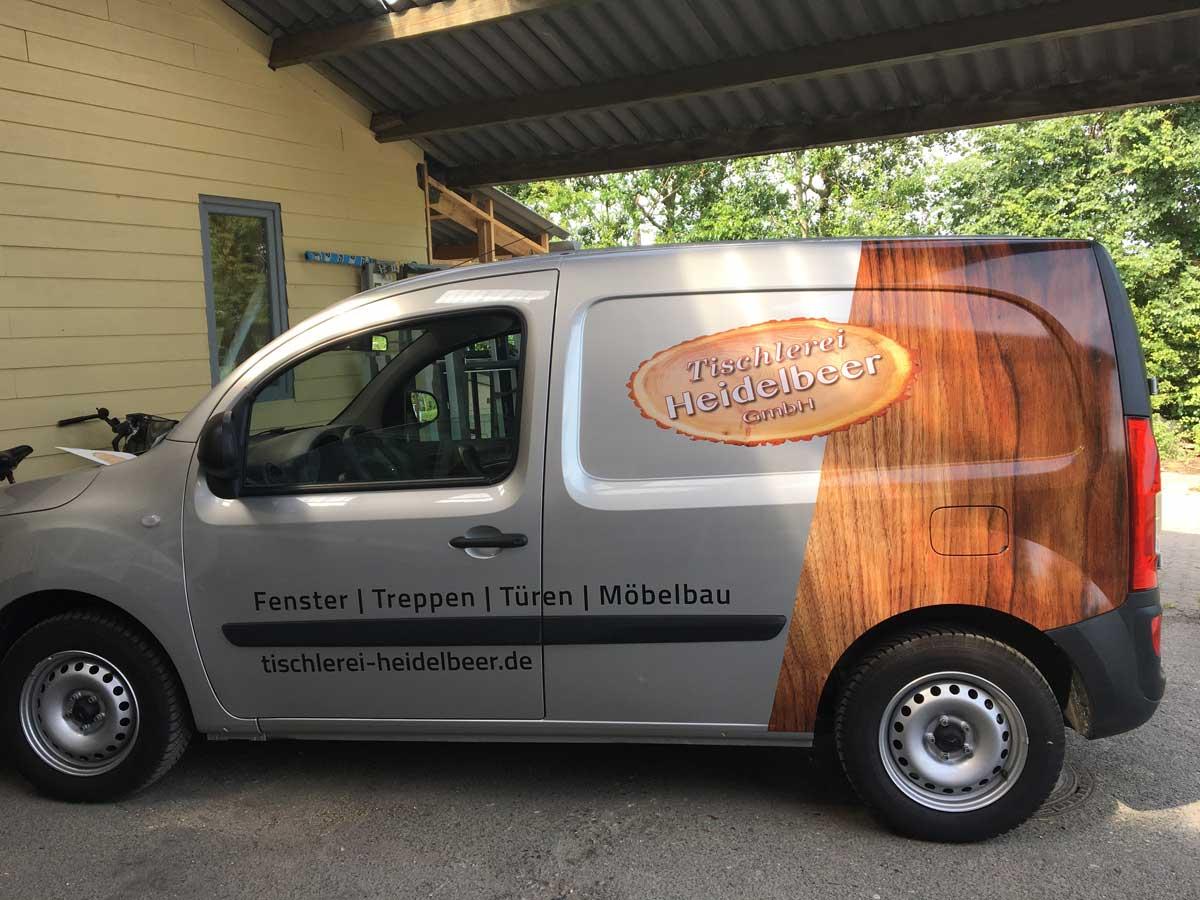 Tischlerei-Heidelbeer-1-Fahrzeugbeschriftung