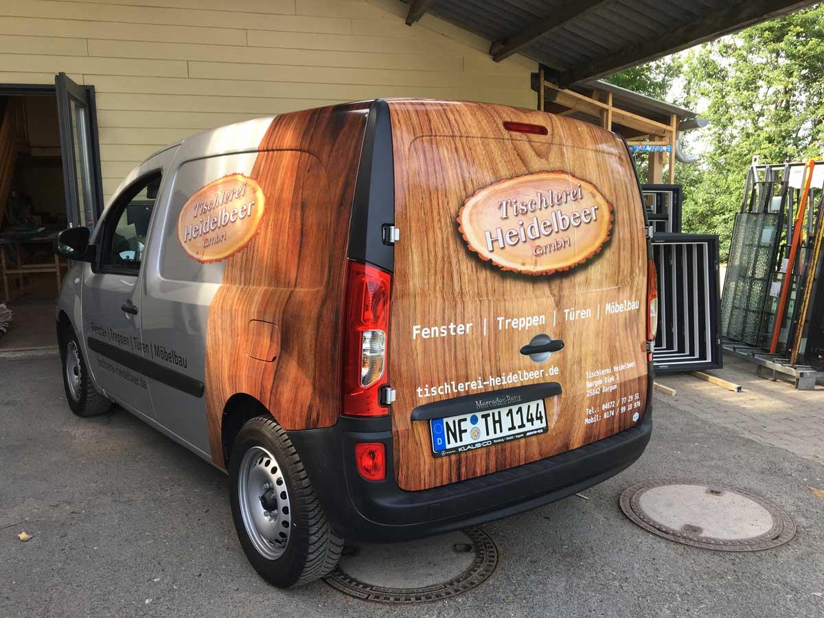 Tischlerei-Heidelbeer-3-Fahrzeugbeschriftung