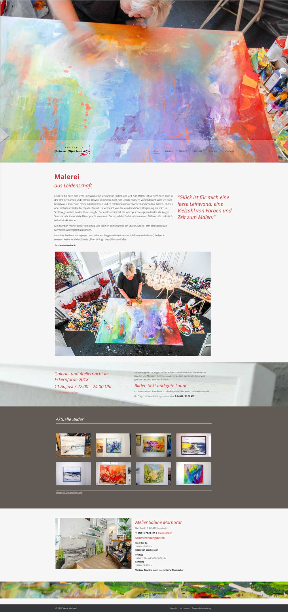 Website Atelier Morhardt-Homepage