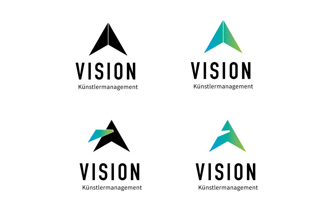 Vision-Künstlermanagement-Logo-Versionen