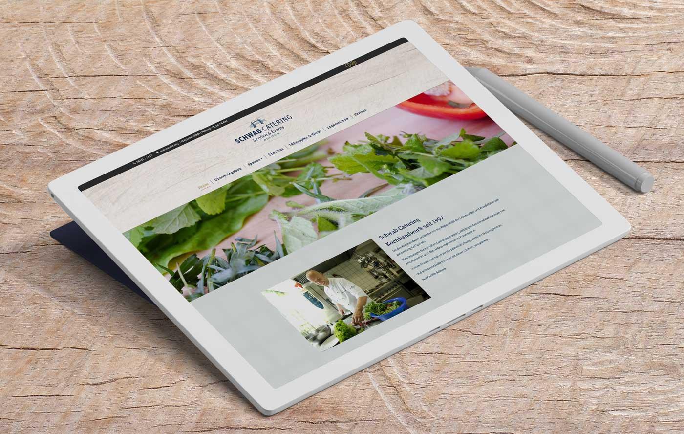 Schwab-Catering-Website-Tablet