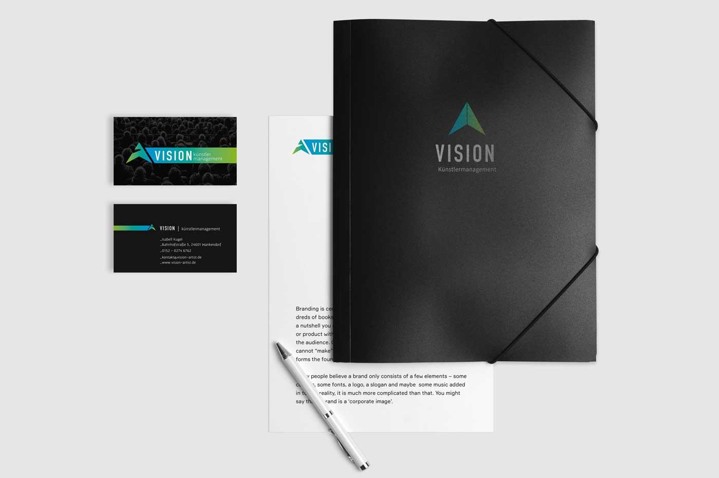 Vision Kuenstlermanagement-Drucksachen