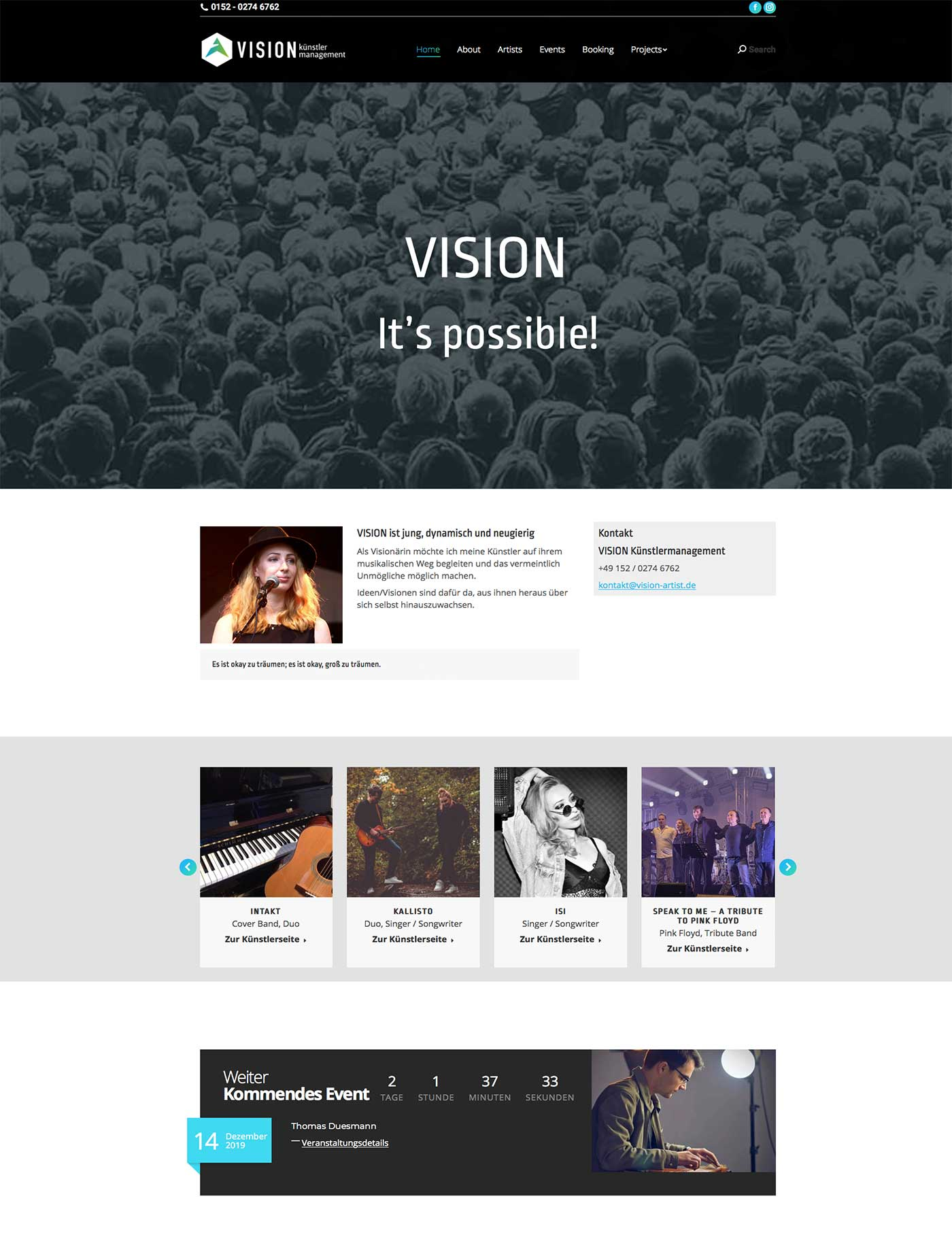 Vision-Kuenstlermanagement Homepage-Imac