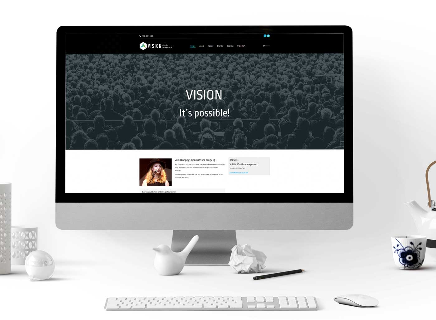 Vision-Kuenstlermanagement Website-Imac