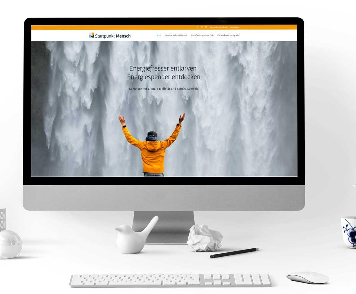 Imac-Startpunkt-Mensch-Website