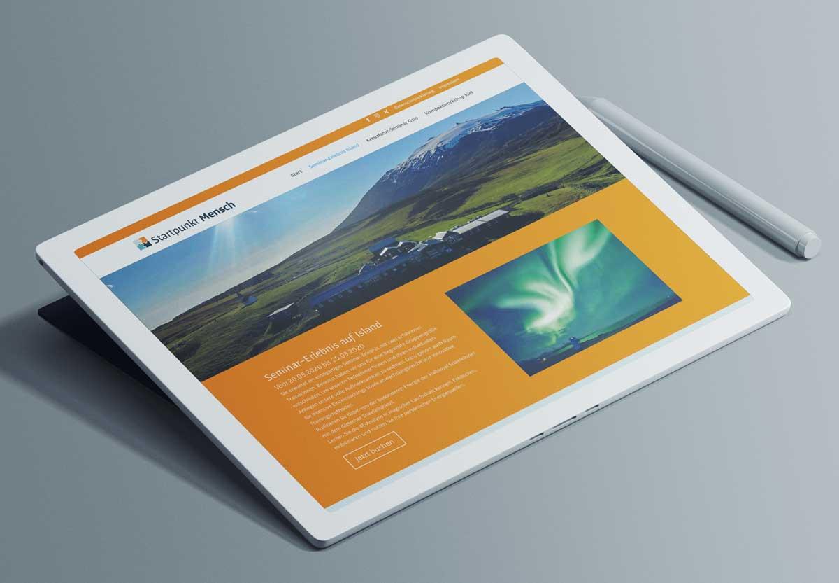 Ipad-Startpunkt-Mensch-Website
